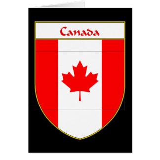 Canada Flag Shield Card