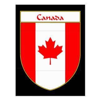 Canada Flag Shield Postcard