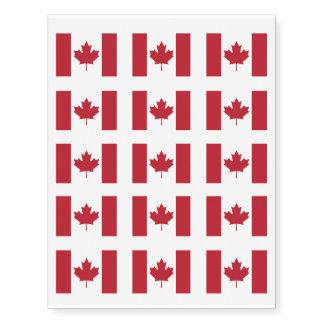 Canada Flag Temporary Tattoos