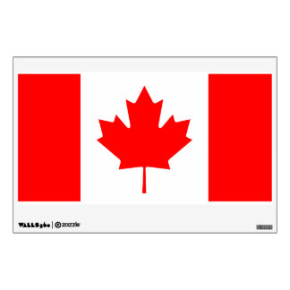 canadian flag wall decals wall stickers zazzle