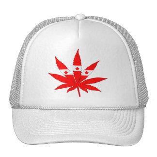 Canada Flag Weed Trucker Hat