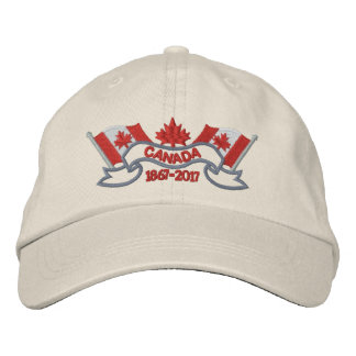 Canada Flags 150 Anniversary Embroidered Baseball Cap