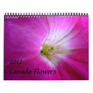 CANADA FLOWERS WALL CALENDAR 2