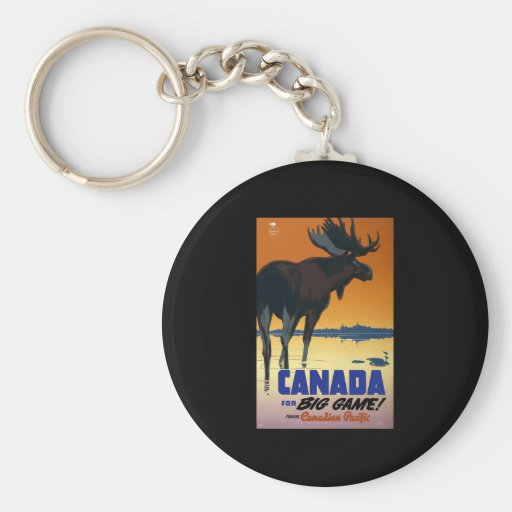 Canada For Big Game Key Chain