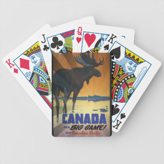 Canada for Big Game Vintage Travel Poster Poker Cards