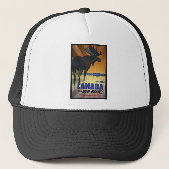 Canada for Big Game Vintage Travel Poster Trucker Hat