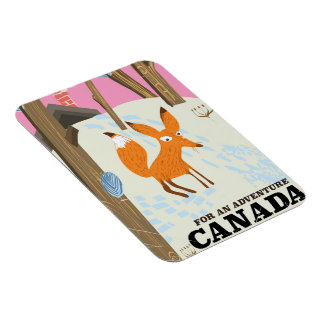 Canada Fox vintage travel poster Magnet