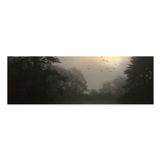 Canada Geese and Morning Fog Business Card