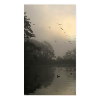 Canada Geese and Morning Fog Business Cards
