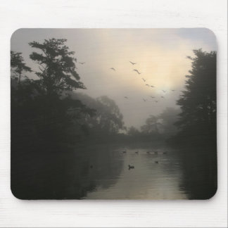 Canada Geese and Morning Fog Mouse Pad