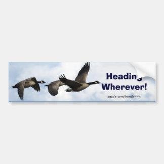 Canada Geese Art Sticker
