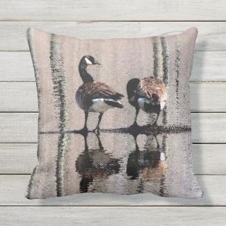 Canada Geese Birds Animal Outdoor Pillow