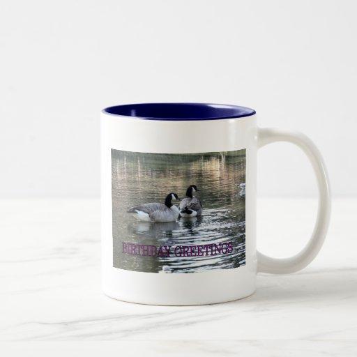 Canada Geese Birthday Greetings Coffee Mugs