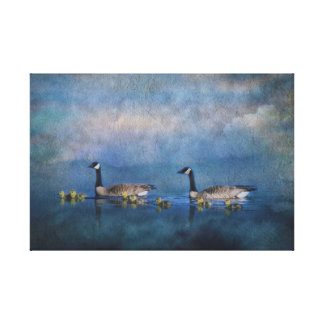 Canada Geese Family Canvas
