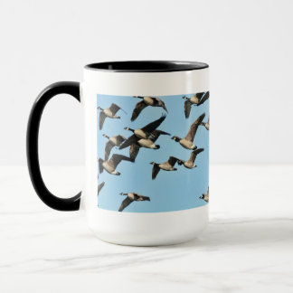 Canada Geese Flock in Flight Mug