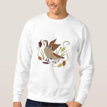 Canada  Geese in Autumn Embroidered Sweatshirt