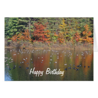 Canada Geese In Autumn Nature Birthday Card