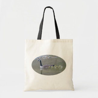 Canada Geese Mom Babies Nature Photo Tote Bag