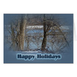 Canada Geese on Green Lane Reservoir Happy Holiday Cards