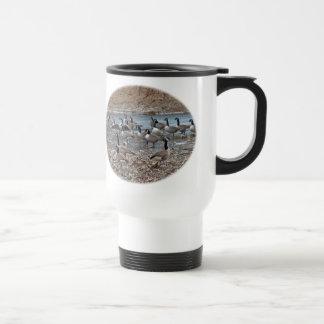 Canada Geese on Green Lane Reservoir Travel Mug