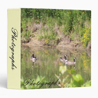 Canada Geese on Pond Photo Binder