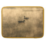 canada geese on the river by sunrise sleeves for MacBook pro