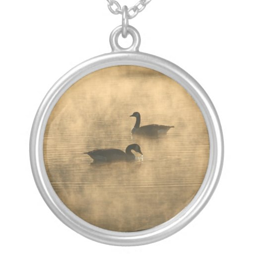 canada geese on the river by sunrise custom jewelry