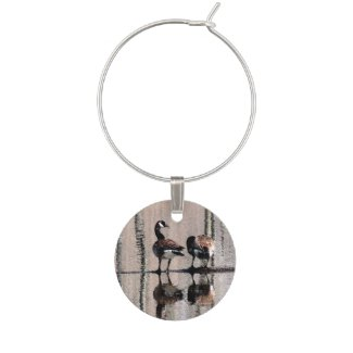 Canada Geese Wine Charm