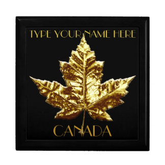 Canada Gift Box Custom Gold Canada Jewelry Box