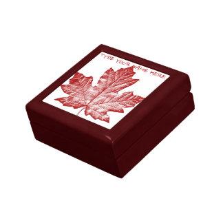 Canada Gift Box Personalized Canada Jewelry Box