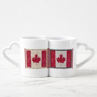 Canada Glory Decorations Proud Canadian Flag Art Couples' Coffee Mug Set