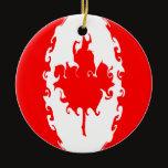 Canada Gnarly Flag Ceramic Ornament