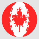 Canada Gnarly Flag Classic Round Sticker