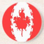 Canada Gnarly Flag Sandstone Coaster