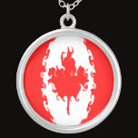 Canada Gnarly Flag Silver Plated Necklace