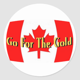 Canada - Go For The Gold Classic Round Sticker