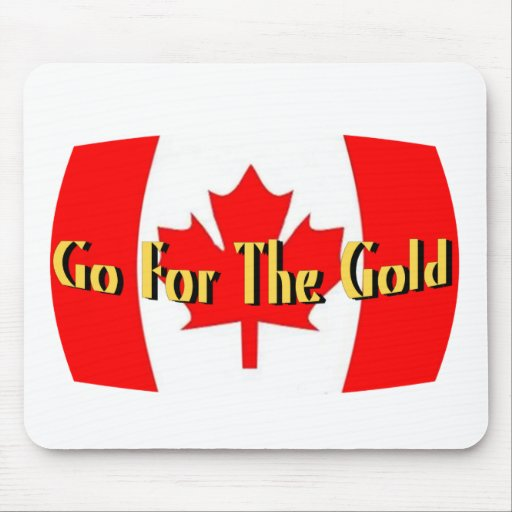 Canada - Go For The Gold Mouse Pad