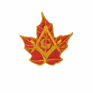 Canada Gold Leaf Masonic Logo Polo
