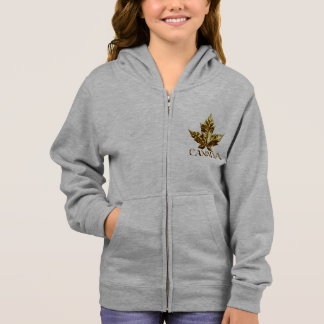 Canada Gold Medal Girl's Canada Hooded Jackets