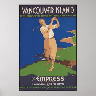 Canada Golf Vintage Travel Poster Ad Retro Prints