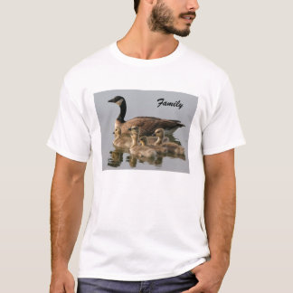 Canada Goose and her brood photo men's t-shirt