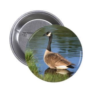 Canada Goose Animal Art Button