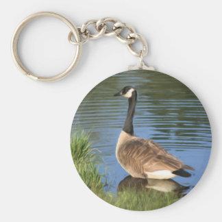 Canada Goose Animal Art Keychain