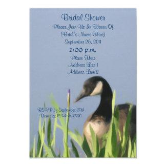 """Canada Goose Art Bridal Shower Invite 5"""" X 7"""" Invitation Card"""