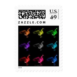 canada goose bird art postage stamps