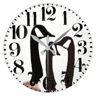 Canada Goose Bird Wildlife Big Number Wall Clock