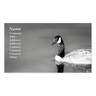 Canada Goose black white - Business cards