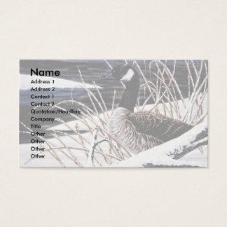 Canada goose business card