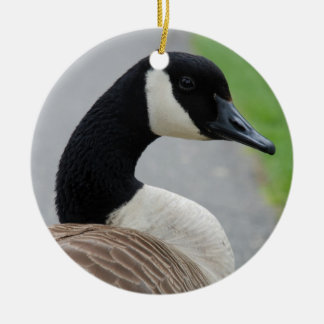 Canada goose Double-Sided ceramic round christmas ornament