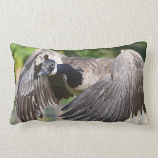Canada Goose In Flight Lumbar Pillow